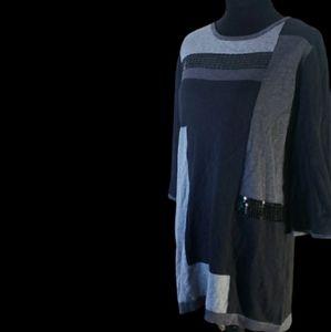 🔮 Black and Grey Dress size med
